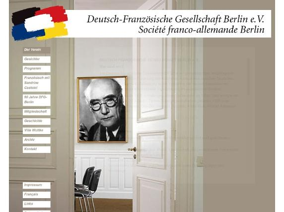 Screenshot von http://www.dfg-berlin.de