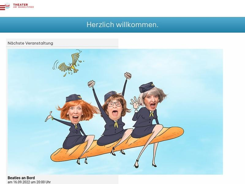 Screenshot von www.theater-wandlitz.de
