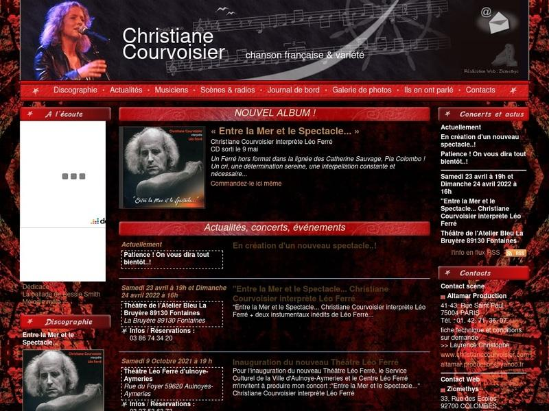 Screenshot von http://www.christianecourvoisier.com