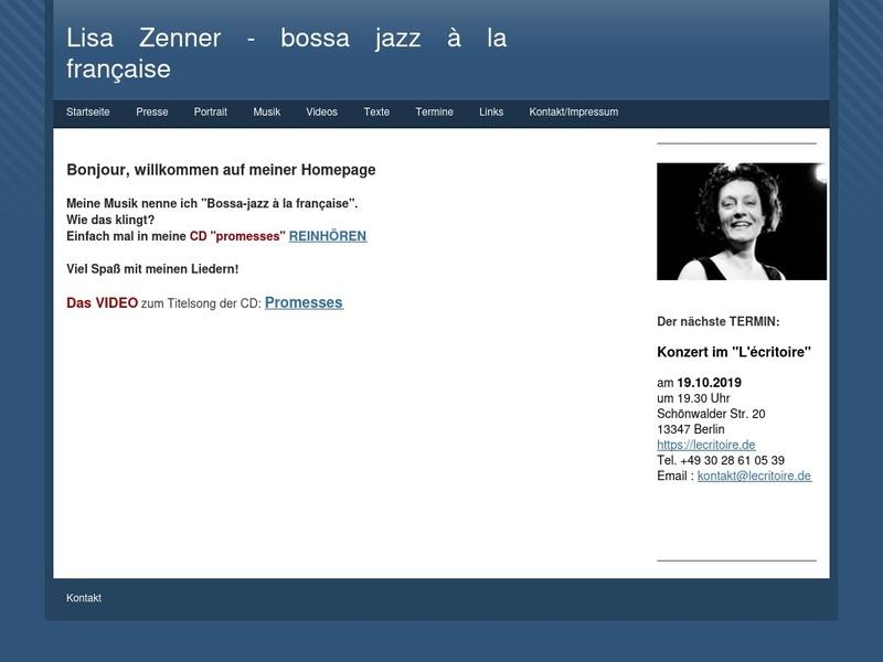 Screenshot von http://www.lisa-zenner.de